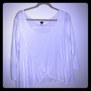 white free people swing top